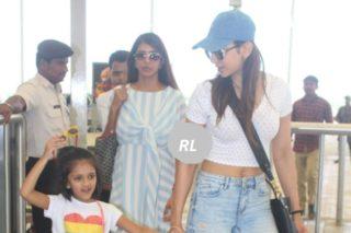 Pics: Rakul And Lakshmi Heading To Goa