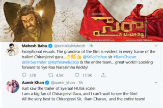 Aamir Khan & Mahesh Babu Stunned By Sye Raa