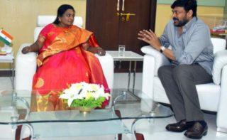 Megastar Meets Telangana Gov Tamilisai