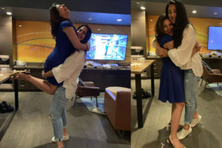 Pics: Anushka's lovely hug to Anjali