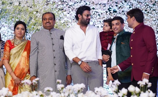 Celebs @Producer Lakshman's son's Engagement