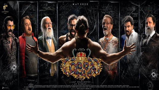 """First Look Poster: Vikram in several getups as """"Cobra"""""""
