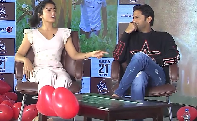 Rashmika Was Signed For Bheeshma Before Me Nithiin Manatelugumovies Net