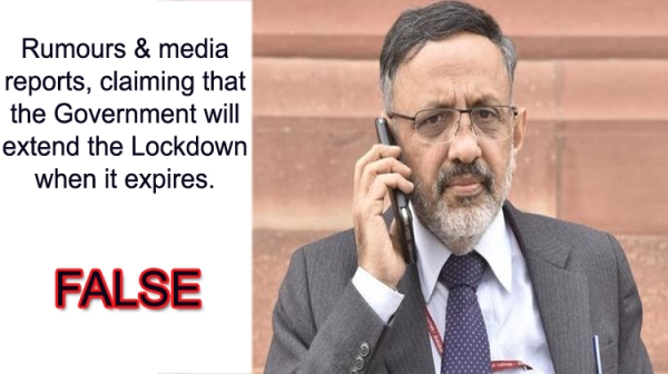 Rumours Are Baseless, No Plan To Extend 21-Day Lockdown: Centre