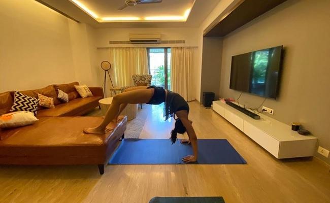 Rakul Practices Yoga During Self Quarantine