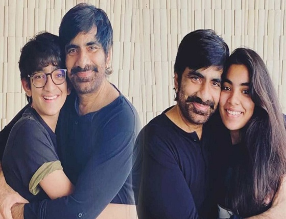 Ravi Teja's family time with Son & Daughter!