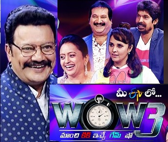 Saikumar's WOW3 – New Game Show 4th Aug with Suma, Anasuya, Mano , Dhanraj
