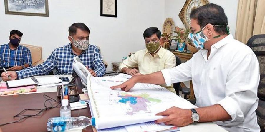 Cynical Bhatti taken to 2BHK sites in Telangana