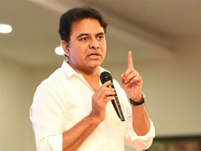 KTR uses opportunity to fire at BJP once again