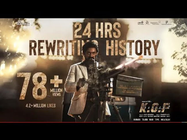 KGF-2 Teaser Rewrites History With Amount Of Views On YouTube