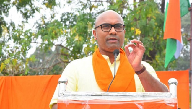 Telangana BJP MP lashes out at KCR for his distasteful comments on woman.