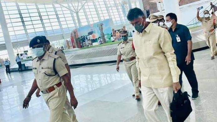 N Chandrababu Naidu departs Hyderabad after Airport protest