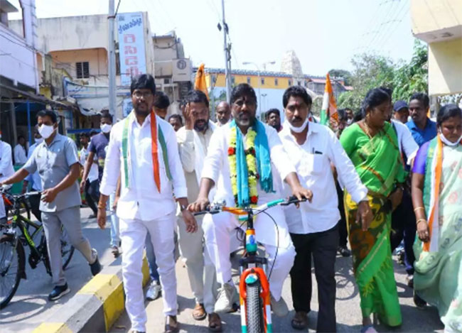 Why Is Mallu On A Cycle YatraDduring election time?