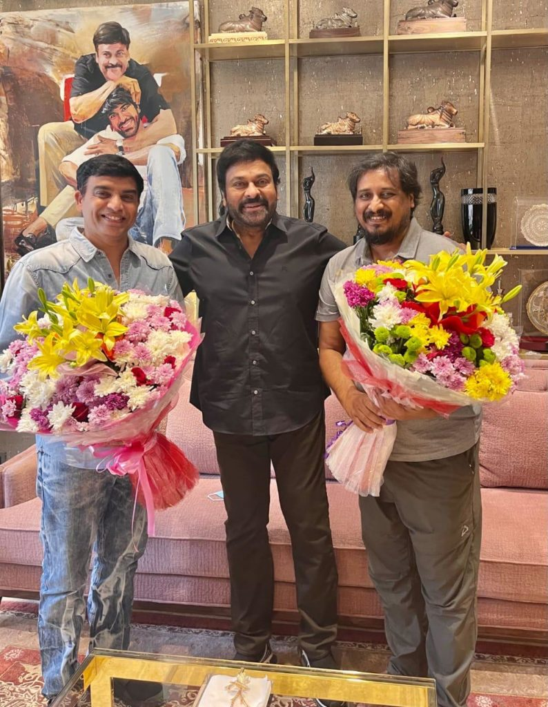 Chiru congratulates 'Vakeel Saab' producer Dil Raju and director Sriram Venu