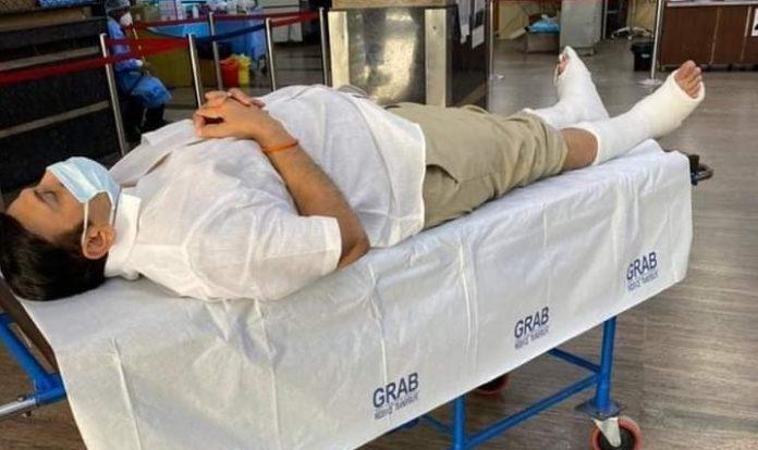 MP Raghurama should not walk under any circumstances: AIIMS Doctors