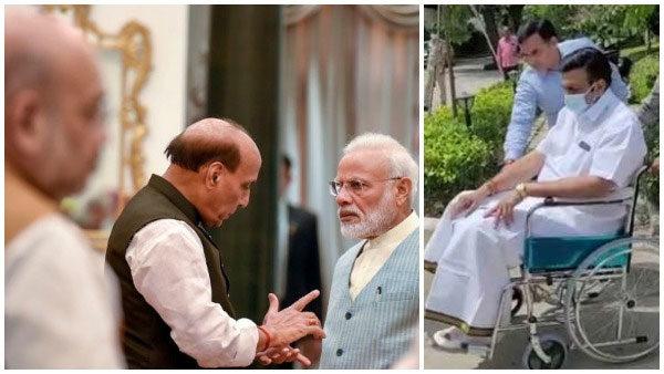 MP Raghurama meets Defense minister Rajnath Singh