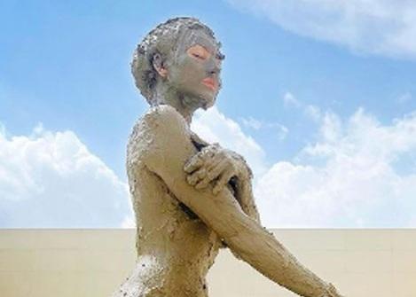 Pic Talk: Urvashi Enjoying A Mud Bath IN Balearic Beach!