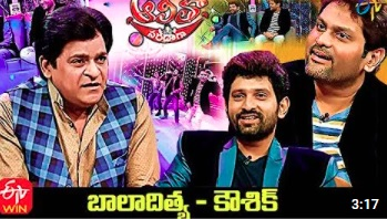 Alitho Saradagaa  – 7th June with Kaushik & Baladitya (Actors)