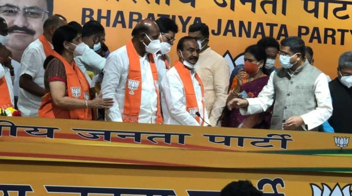 Sacked Telangana health minister Etela Rajender joins BJP