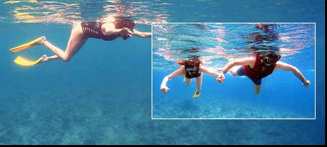 Photostory: Kajal Enjoys Her Vacation In Water With Her Husband!